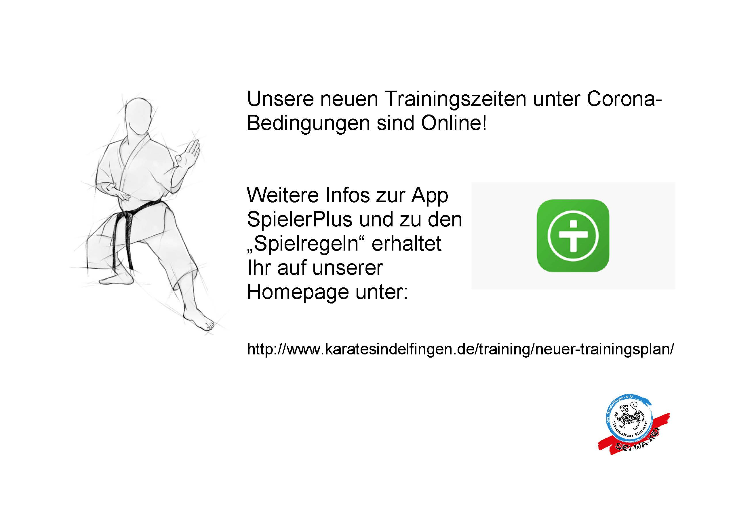 Neuer Trainingsplan ab 05.10.2020
