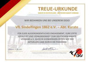 Ein Dank vom Deutschen Karate Verband